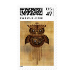 Steampunk Owl Vintage Style Postage Stamp