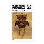 Steampunk Owl Vintage Style Postage Stamp