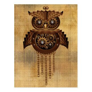 Steampunk Owl Vintage Style Postcards