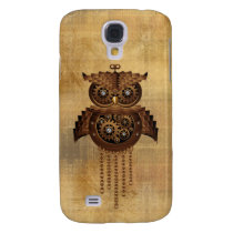 Steampunk Owl Vintage Style Samsung Galaxy S4 Case