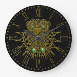 Steampunk Owl Wall Clock