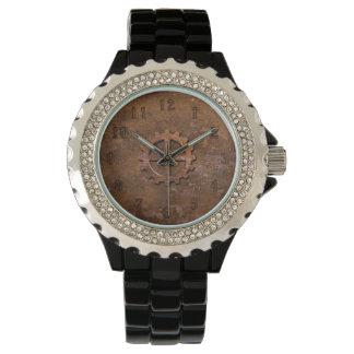 Steampunk oxidado relojes de pulsera