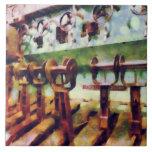 Steampunk - palancas en submarino azulejos cerámicos