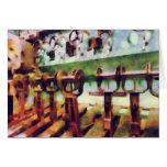 Steampunk - palancas en submarino felicitación