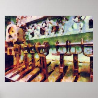 Steampunk - palancas en submarino poster