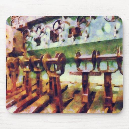 Steampunk - palancas en submarino alfombrillas de ratón