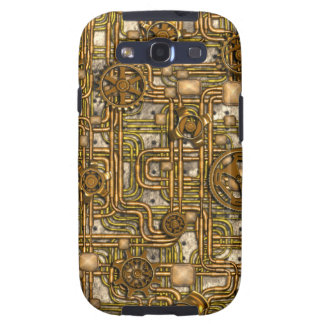 Steampunk Panel - Gears and Pipes - Brass Samsung Galaxy SIII Cover