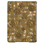 Steampunk Panel - Gears and Pipes - Brass Case For iPad Air