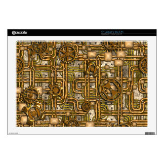 Steampunk Panel - Gears and Pipes - Brass Decals For Laptops