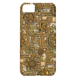 Steampunk Panel - Gears and Pipes - Brass iPhone 5C Case