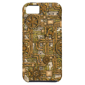 Steampunk Panel - Gears and Pipes - Brass iPhone SE/5/5s Case