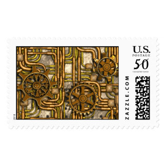 Steampunk Panel-Gears and Pipes-Brass-Postage Postage