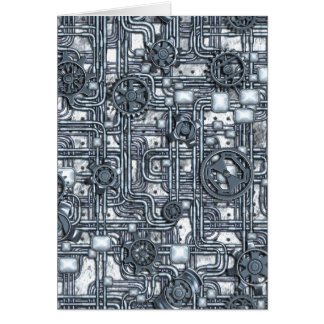 Steampunk Panel - Gears and Pipes - Steel Card