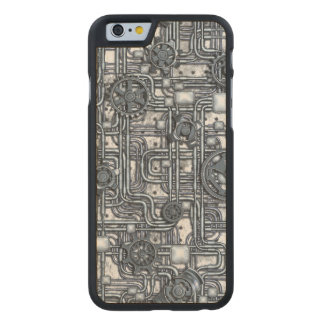 Steampunk Panel - Gears and Pipes - Steel Carved® Maple iPhone 6 Slim Case