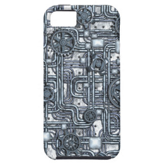 Steampunk Panel - Gears and Pipes - Steel iPhone SE/5/5s Case