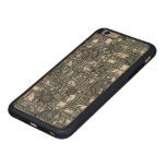 Steampunk Panel - Gears and Pipes - Steel Carved® Maple iPhone 6 Plus Bumper Case