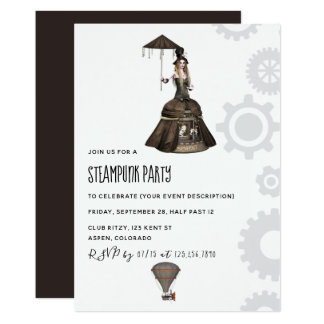 Steampunk Party Invitation