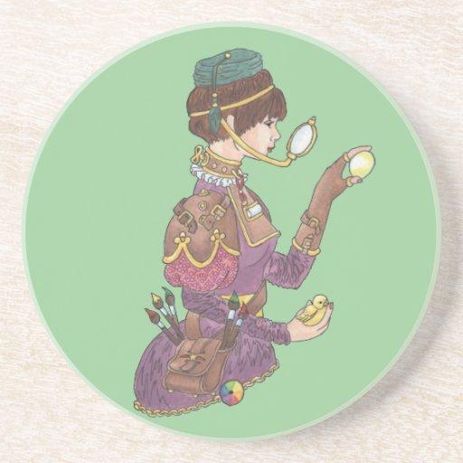 Steampunk Pascua Posavasos Personalizados