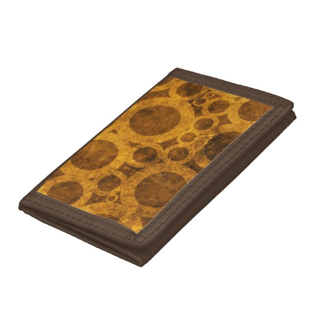 Steampunk Pattern Brown and Gold Wallet