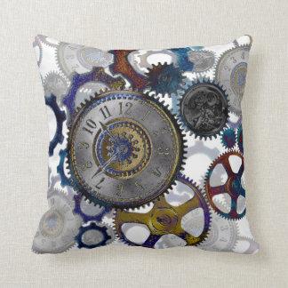 STEAMPUNK patterns Home decor Throw Pillow