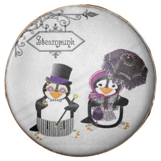 Steampunk Penguins Chocolate Dipped Oreo