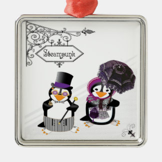 Steampunk Penguins Ornament