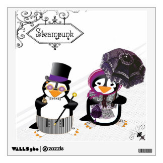 Steampunk Penguins Wall Decal