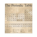 Steampunk Periodic Table Memo Notepad