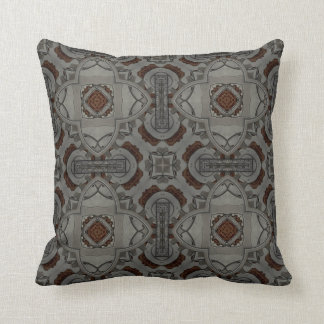 Steampunk Pewter Cogs II Pillow