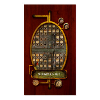 Steampunk - Phones - The old switch board Business Card Templates