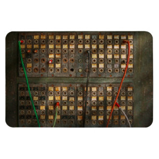 Steampunk - Phones - The old switch board Vinyl Magnet