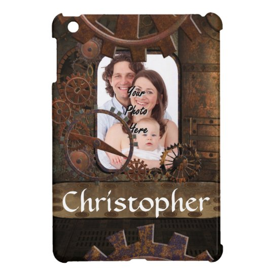 Steampunk photo background cover for the iPad mini
