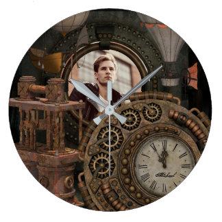 Steampunk Photo Frame Industrial Clock Machinery