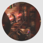 Steampunk - Photonic Experimentation Round Sticker