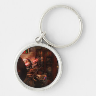 Steampunk - Photonic Experimentation Silver-Colored Round Keychain