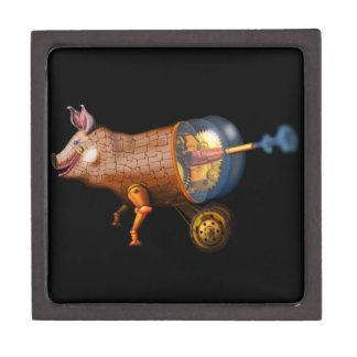 steampunk pig gift box