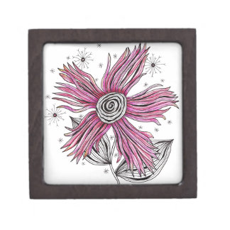 Steampunk Pink Flower Keepsake Box