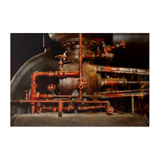 Steampunk - Pipe dreams Acrylic Wall Art