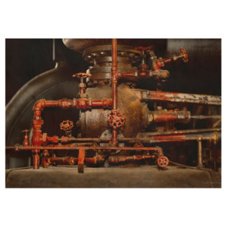 Steampunk - Pipe dreams Wood Poster