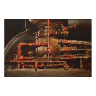 Steampunk - Pipe dreams Wood Wall Art