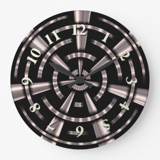 Steampunk Pipes Large Clock