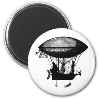 Steampunk pirate airship 2 inch round magnet