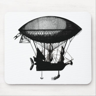 Steampunk pirate airship mouse pad