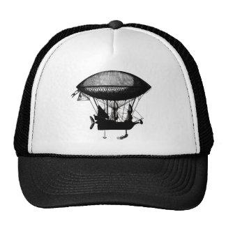 Steampunk pirate airship trucker hat
