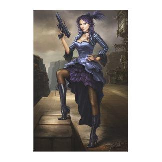 Steampunk Pirate lady Canvas Print
