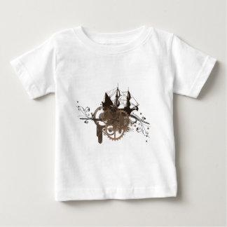 Steampunk pirate ship tee shirt