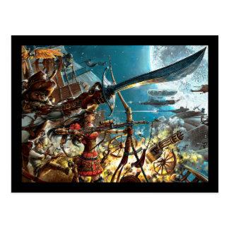 Steampunk Pirates Postcard