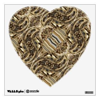 Steampunk Piston-Power Heart Wall Decal
