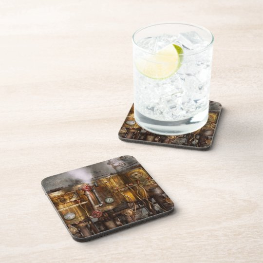 Steampunk - Plumbing - Distilation apparatus Beverage Coaster