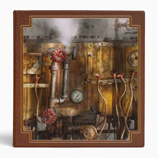 Steampunk - Plumbing - Distilation apparatus Binder